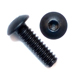 10-32 x 3/8 Button Head Socket Screws - Black Aluminum Qty. 100