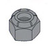 2-56 Nylon Insert Lock Nuts 18-8 Stainless Black Oxide