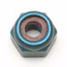 Metric Lock Nuts Blue Anodized Aluminum