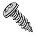 Pan Head Slotted Sheet Metal Screws Plated