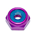 Lock Nuts Purple Anodized Aluminum