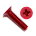 Red Flat Head Phillips Machine Screws 100 Degree