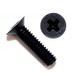 Black Flat Head Phillips Machine Screws 100 Degree