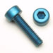 1/4-20 x 5/8 Socket Head Cap Screws Aluminum Blue Anodized Qty. 50
