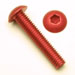 M3 x .5 x 6mm Button Head Socket Screws - Red Anodized Qty. 50
