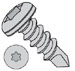 6 LOBE PAN WITH NUMBER 2 POINT SELF DRILLING SCREW ZINC