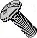 Combination Pan Head Machine Screw Fully Threaded 18 8 Stainless Steel