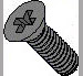 Din 965 Metric Phillips Flat Machine Screw Class 4.8 Black Oxide and Oil