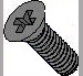 Phillips Flat Machine Screw Fully Threaded 18 8 Stainless Steel Black Oxide