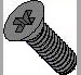 Phillips Flat Machine Screw Fully Threaded Black Oxide