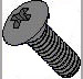Phillips Oval Head Machine Screw Fully Threaded Black Oxide