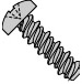Phillips Pan High Low Screw Fully Threaded Zinc And Bake