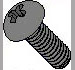 Phillips Round Machine Screw Fully Threaded 18 8 Stainless Steel
