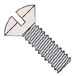 Slotted Oval Machine Screw Fully Threaded Zinc with Ivory Painted Head