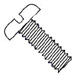 Slotted Pan Machine Screw Fully Threaded Nylon