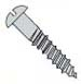 Slotted Round Full Body Wood Screw Zinc
