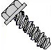 Unslot Indented Hex Washer High Low Screw Fully Threaded 4 10 Stainless Steel