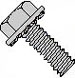 Unslotted Hex Washer External Sems Machine Screw Fully Threaded Zinc And