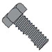 Unslotted Indented Hex Head Machine Screw Fully Threaded Black Oxide