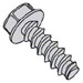 Unslotted Indented Hex Washer Plastite 48 2 Fully Threaded Zinc, Bake And Wax