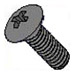 8-32 x 1/2 Oval Phillips Machine Screws 18-8 Stainless Black Oxide -