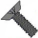 8-32 x 1/4 Flat Head Phillips Machine Screws 18-8 Stainless Black Oxide Undercut 82 Degree -