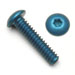 Button Head Socket Screws Blue Anodized Aluminum