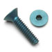 Flat Head Socket Screws Blue Anodized Aluminum