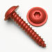 #4 x 5/8 Servo Flange Screws - Red Anodized - Qty. 50
