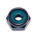 M3 BLACK ALUMINUM NYLON INSERT LOCK NUTS QTY 25