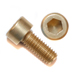 M5 x .8 x 10mm Socket Head Cap Screws - Gold