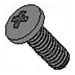 0-80 x 5/16 Pan Phillips Machine Screws 18-8 Stainless Black Oxide - Qty. 100