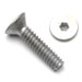 10-32 x 3/8 Flat Head Socket Screws Plain Aluminum Qty. 50