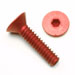 4-40-x-5/16.Flat-Head-Socket-Screw-Red-Qty-25