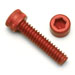 4-40-x-7/16.Socket-Cap-Screw-Red-Qty-25