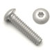 8-32 x 1/4 Button Head Socket Screws Plain Aluminum Vented