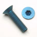 M3 x .5 x 14mm Flat Head Socket Screws - Blue Qty. 25