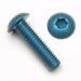 M2 x .4 x 4mm Button Head Socket Screws - Blue Anodized Qty. 25