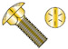Carriage Bolt Grade 8 Fully Threaded Zinc Yellow