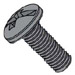 Combination Pan Head Machine Screw Fully Threaded Black Oxide