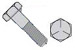 Fine Thread Hex Cap Screw Grade 5 Zinc