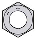 Fine Thread Hex Nut Grade 8 Domestic Zinc Yellow
