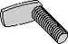 L Shaped 90 Degree Spot Weld Screw Plain