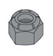 Nylon Insert Hex Lock Nut Black Oxide