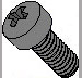 Phillips Fillister Head Machine Screw Fully Threaded Black Oxide