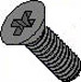 Phillips Flat Machine Screw Fully Threaded Black Zinc