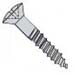 Phillips Oval Full Body Wood Screw Zinc
