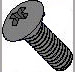 Phillips Oval Head Machine Screw Fully Threaded Black Zinc