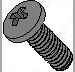 Phillips Pan Machine Screw Fully Threaded Black Zinc