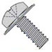 Phillips Pan Square Cone Sems Fully Threaded 18 8 Stainless Steel